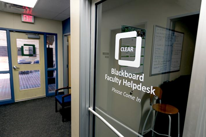clear faculty helpdesk chilton hall entrance