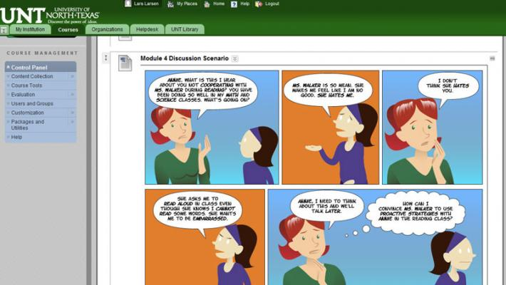 Comic placed in course site.