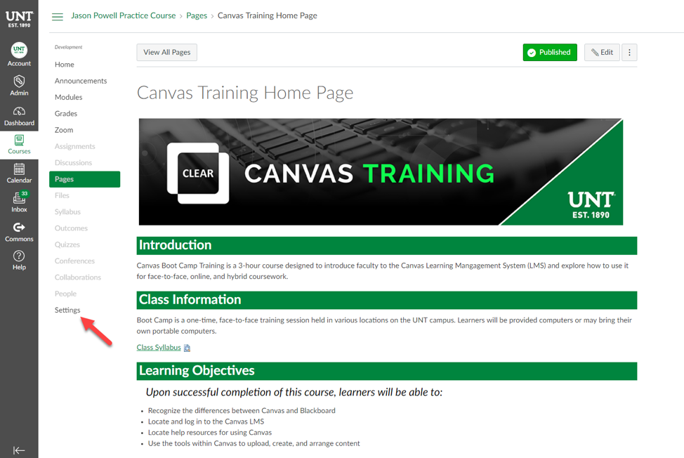 Canvas Migration Checklist | Center for Learning